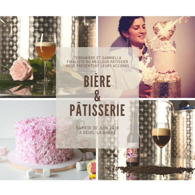 Accords Bière et Pâtisserie - Terrabière et Gabriella, finaliste Meilleur Pâtissier